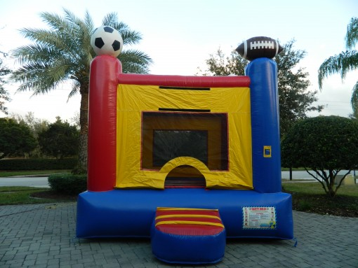 bounce houses, waterslides, lake mary